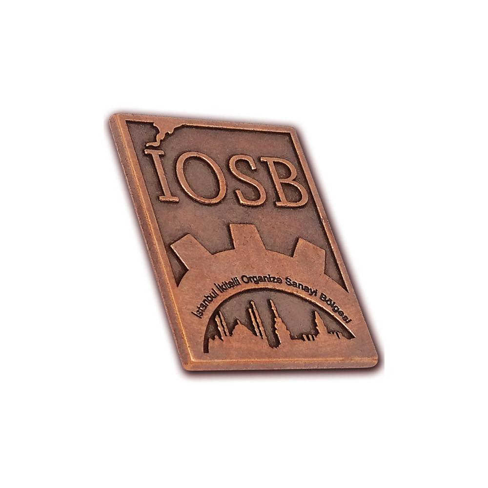 IOSB metal logo
