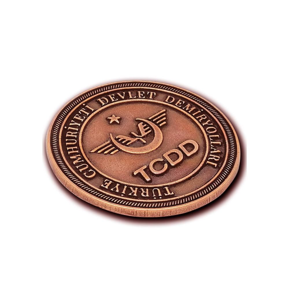 TCDD Metal Logo