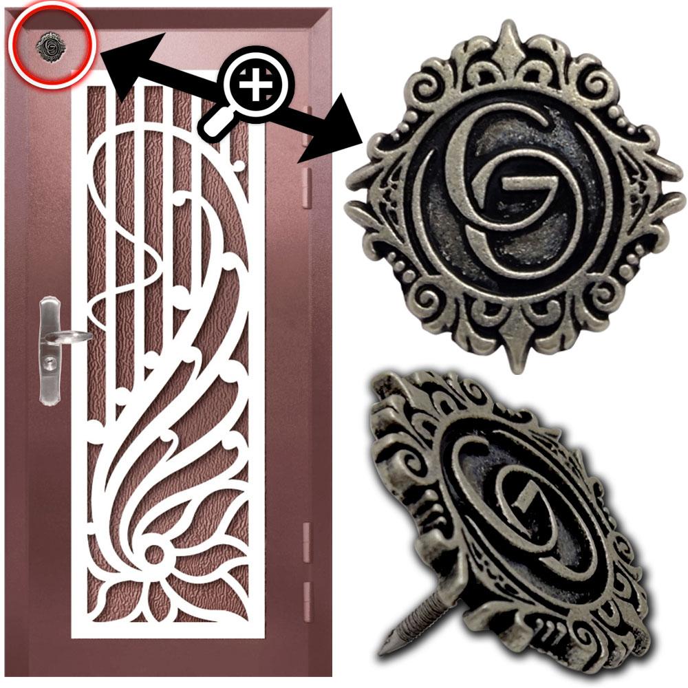 GO Çelik Kapı Metal Döküm Etiket