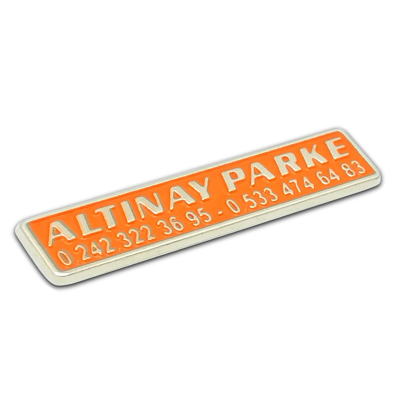 Altınay Parke Metal Döküm Etiket