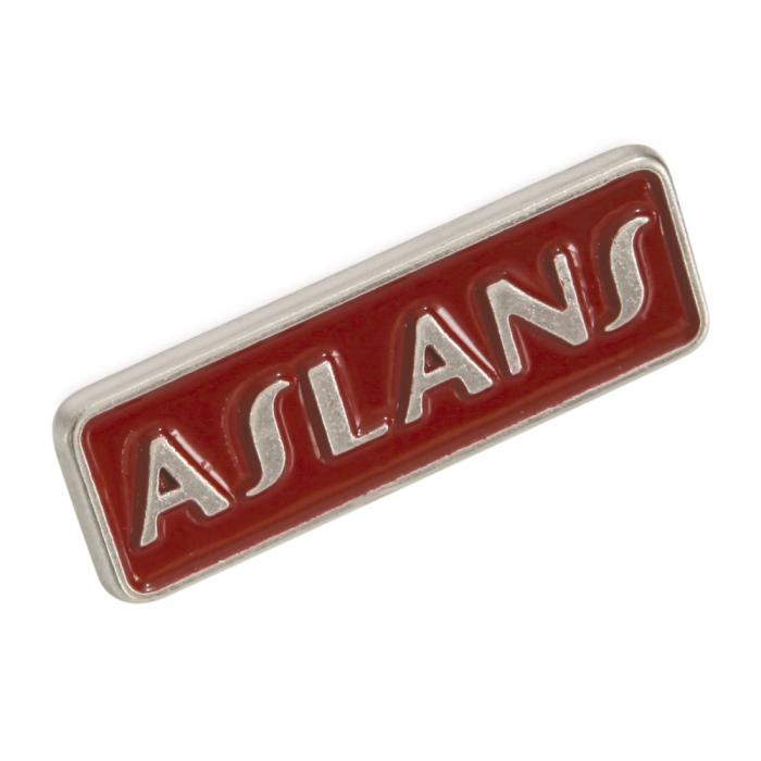 Aslans 3d metal etiket