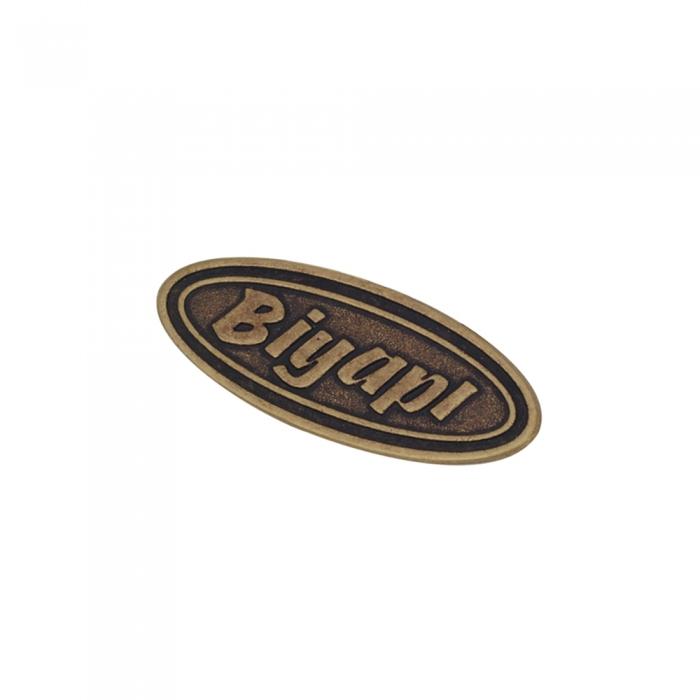 biyapi 3d metal etiket