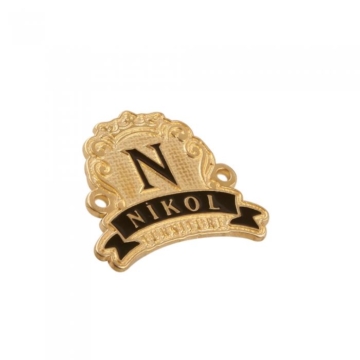 nikol 3d metal etiket