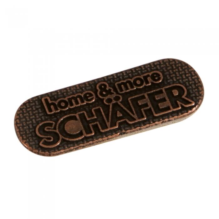 Schafer 3d metal etiket