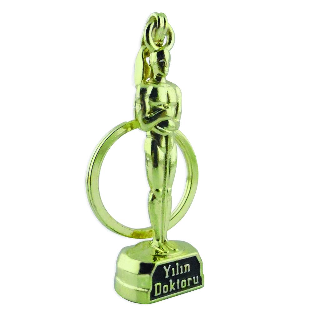 Oskar Ödülü anahtarlık Yılın doktoru oscar award keychain