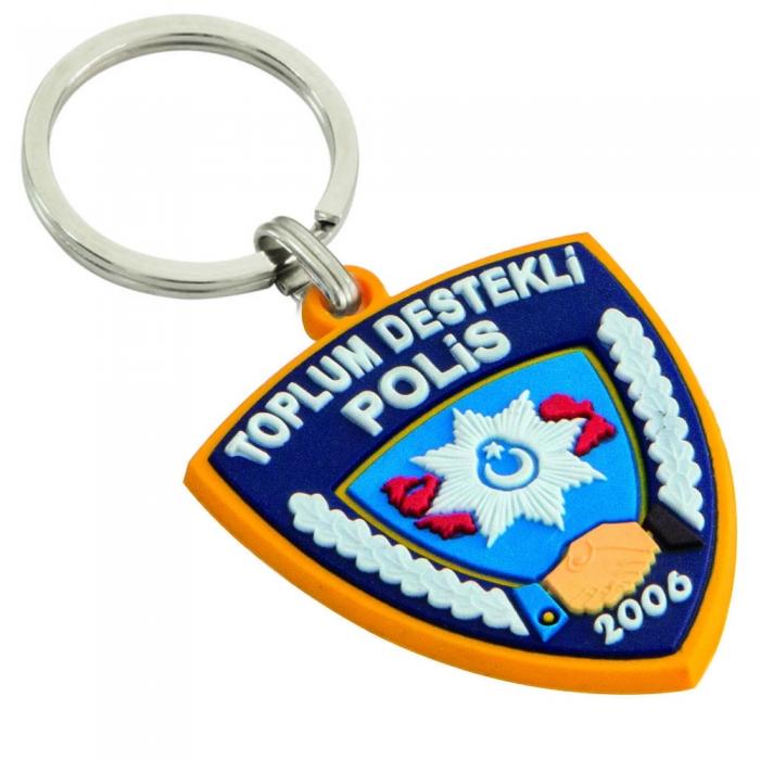 Toplum Destekli Polis Pvc Anahtarlık