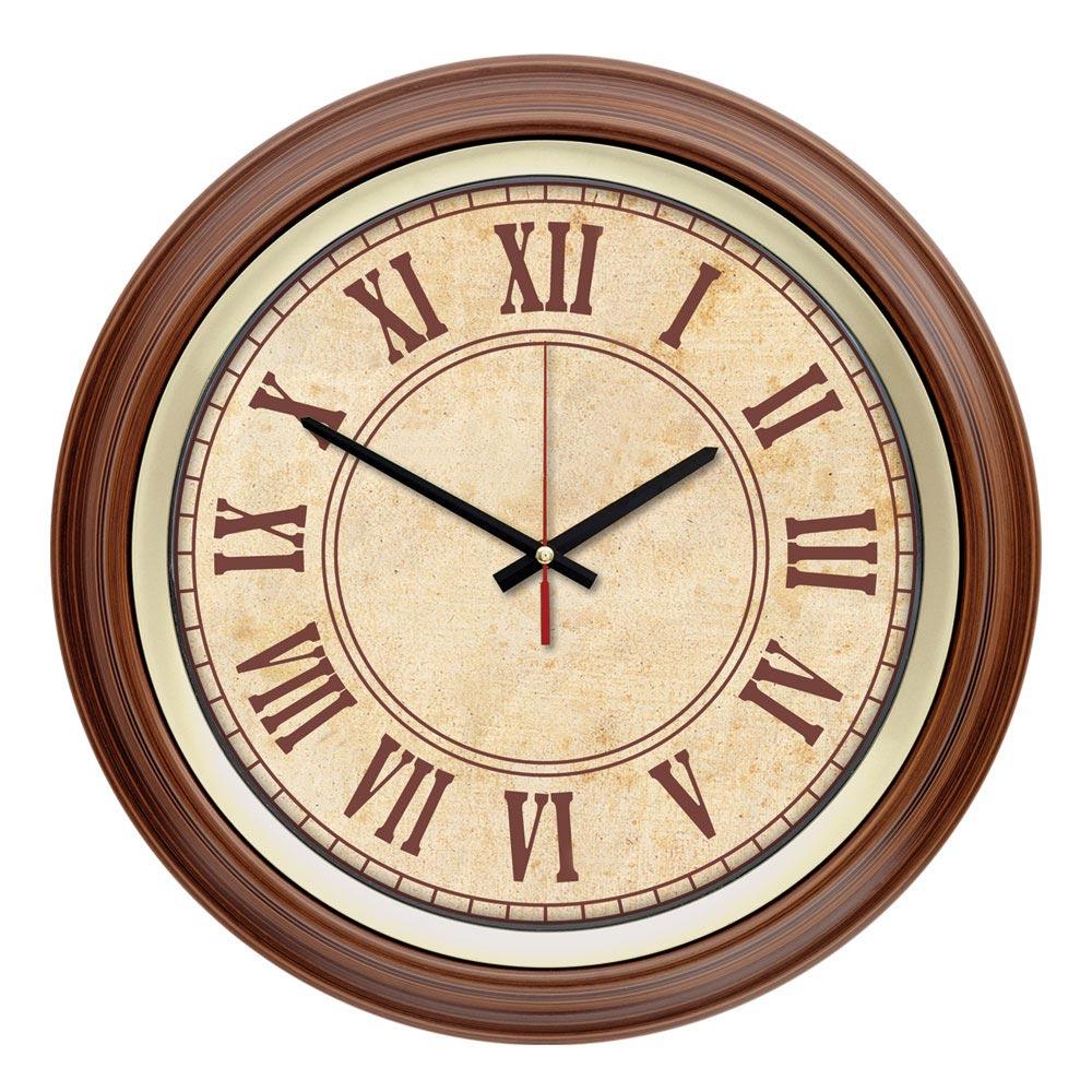 1110  Wooden Color R1 Wall Clock