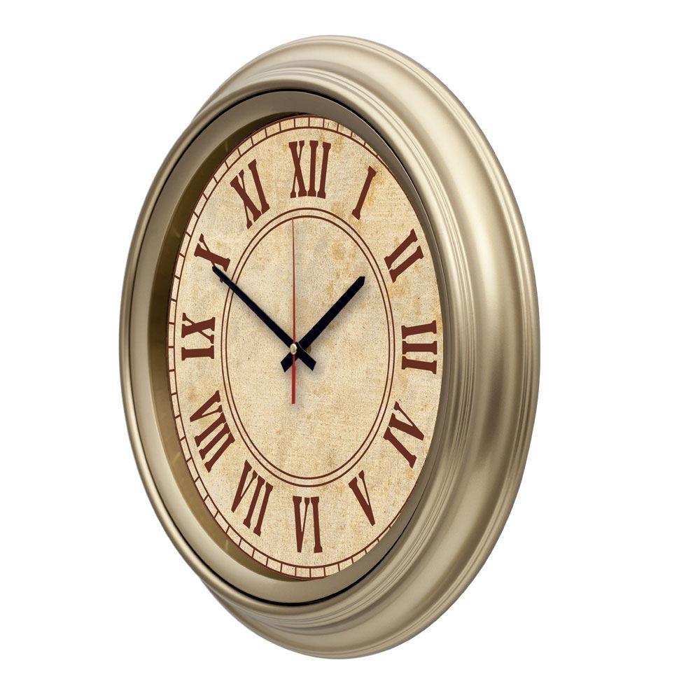1110 Golden Color R1 Wall Clock