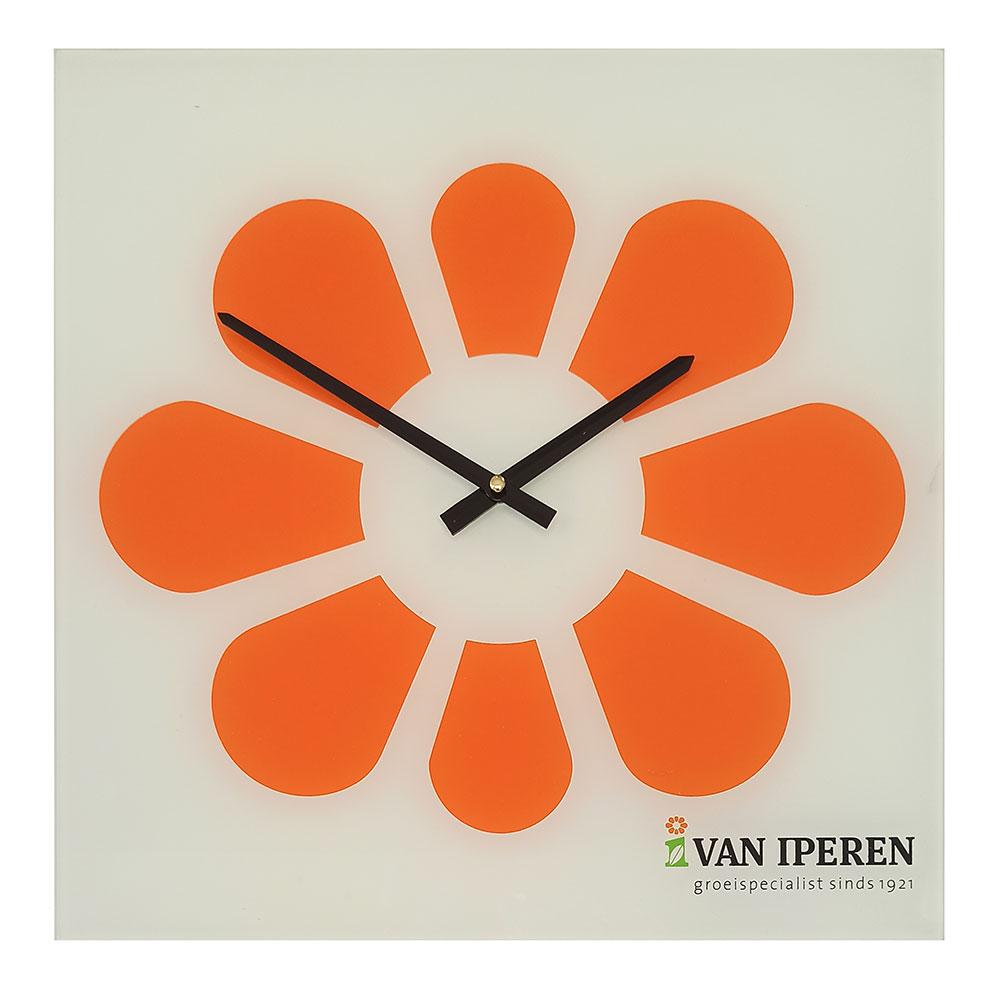 1164 Square Glass Clock