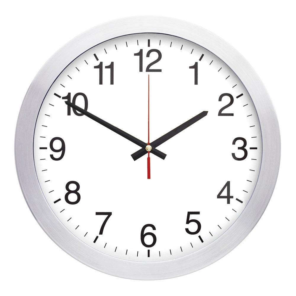 1166 01 40 cm Aluminum Wall Clock
