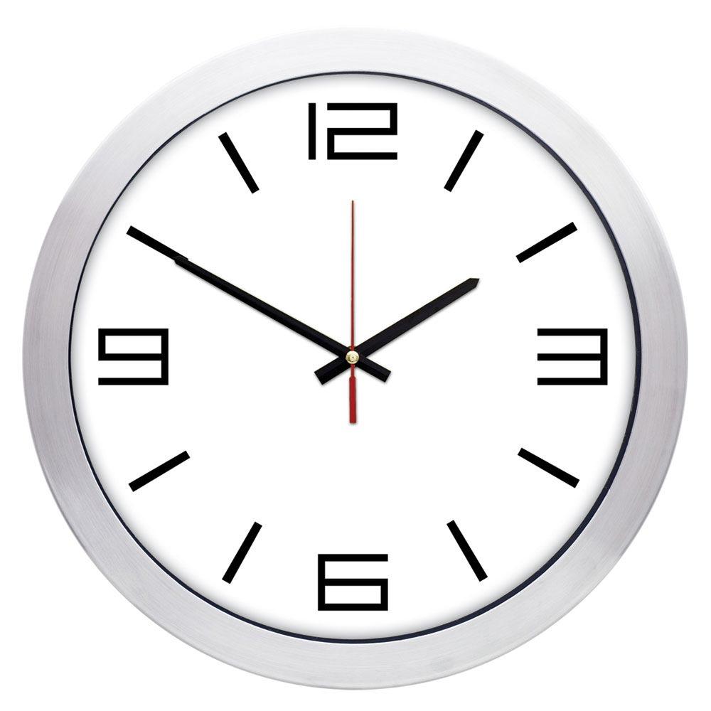1167 B 01 30 cm Aluminum Wall Clock
