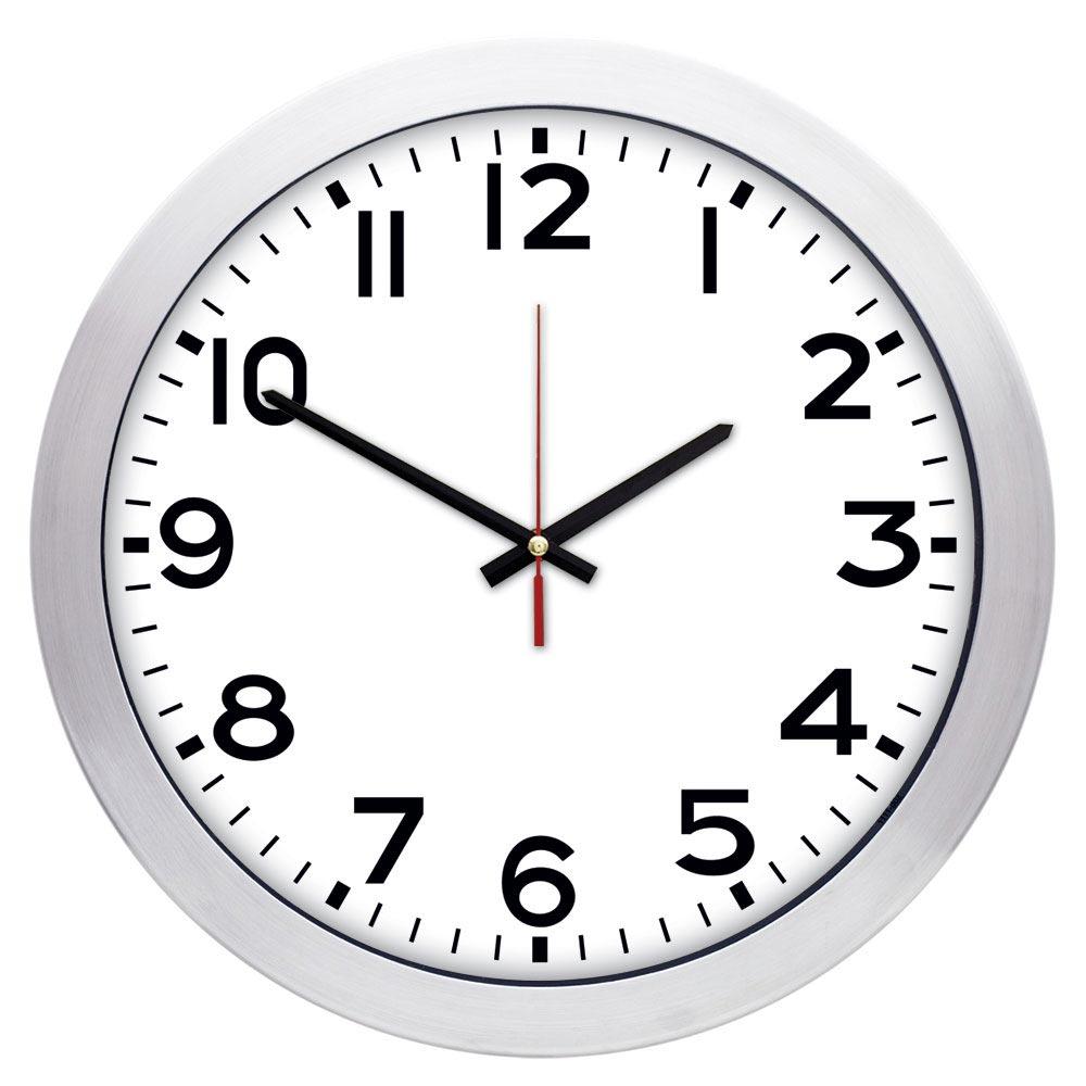 1167 B 02 30 cm Aluminum Wall Clock