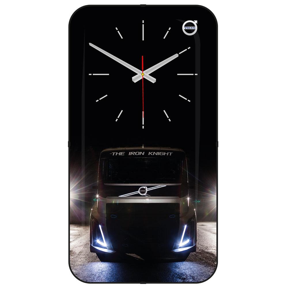 1171  Rectangular Curved Glass Wall Clock