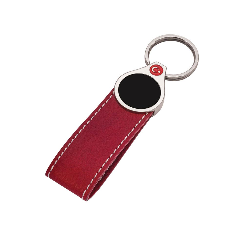 8060 MK Leather Keychain