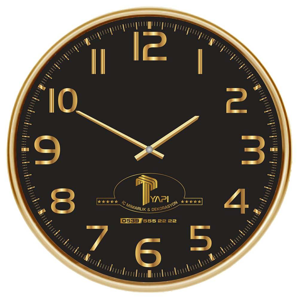 902 A Gld Wall Clock