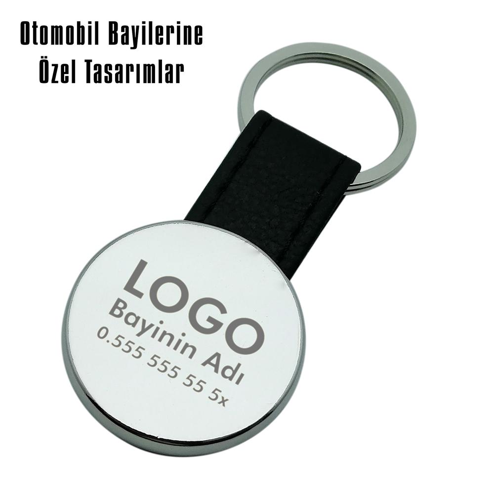 9041 Peugeot Deri Anahtarlık