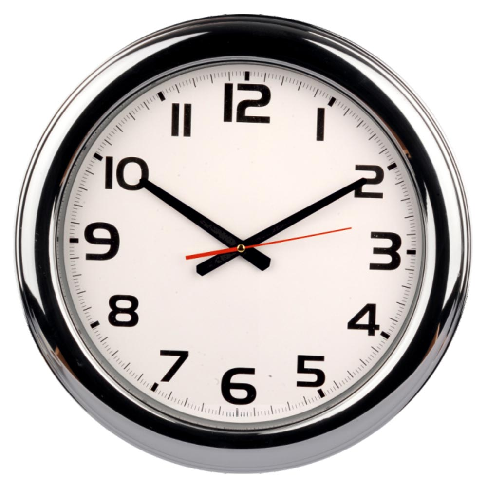 915 Wall Clock Metalized