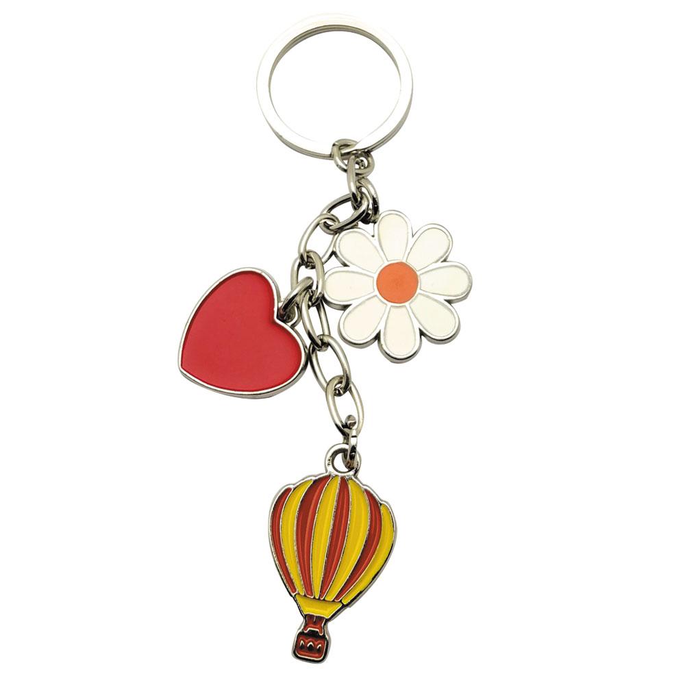 HMA50-05 Kalp Çiçek Balon Salkım Anahtarlık