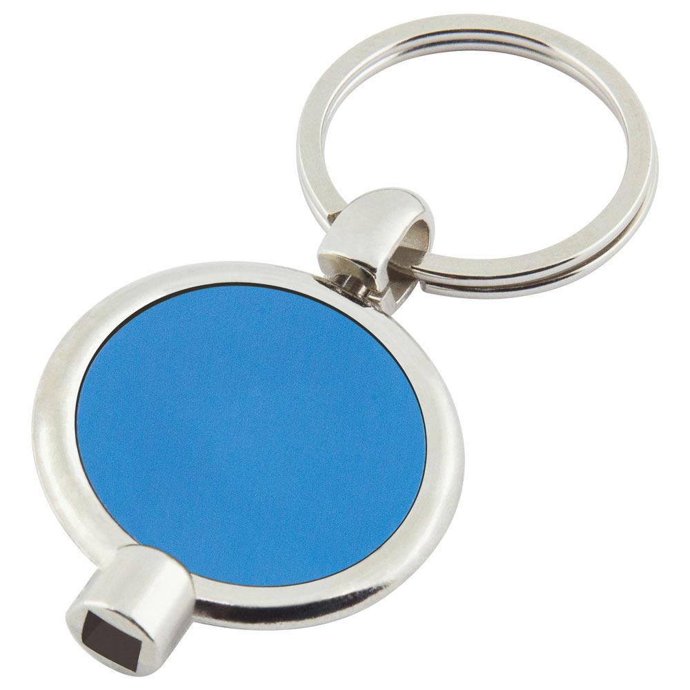 P-11 MM Radiator Keychain Blue Metal Label